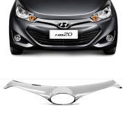 Aplique Cromado  da Grade Frontal Hyundai Hb20 2013 a 2015