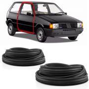 Kit Borracha da Porta Fiat Uno Prêmio Elba  até 1990 2 Portas