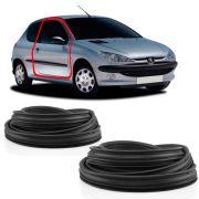 Kit Borracha da Porta Peugeot 206 2 Portas Peugeot 306 307 406