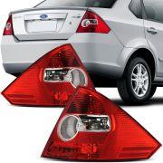 Lanterna Traseira Bicolor Ford Fiesta Sedan 2005 a 2010 Lado Direito
