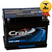 Bateria Automotiva Selada Cral Top Line 60A Polo Positivo Esquerdo