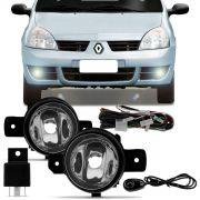 Kit Farol de Milha Renault Clio Hatch Sedan 2003 a 2012