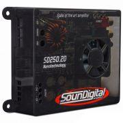 Módulo Amplificador SounDigital SD250.2d Mini 2 canais 125W RMS 2ohms