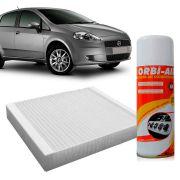 Filtro do Ar Condicionado Cabine Fiat Punto 1.4 1.8 2007 em diante Linea 1.4 1.9 2008 em diante + Higienizador