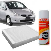 Filtro do Ar Condicionado Cabine Honda Fit 2008 em diante + Higienizador