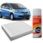 Filtro do Ar Condicionado Cabine Honda City 1.5 Fit 1.4 1.5 Flex 2009 em diante + Higienizador