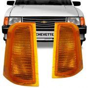 Lanterna Dianteira Pisca Chevrolet Chevette Marajo Chevy 1983 em Diante Ambar Lado Esquerdo