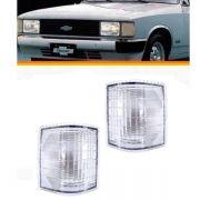 Lanterna Dianteira Pisca Chevrolet Opala Caravan 1980 a 1987 D20 D40 Veraneio 1986 a 1992 Cristal Lado Esquerdo