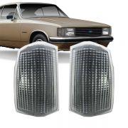 Lanterna Dianteira Pisca Chevrolet Opala Caravan 1988 a 1992 D20 Veraneio Bonanza 1993 em Diante Cristal Lado Direito