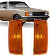 Lanterna Dianteira Pisca Chevrolet Opala Caravan 1988 a 1992 D20 Veraneio Bonanza 1993 em Diante Ambar Lado Esquerdo