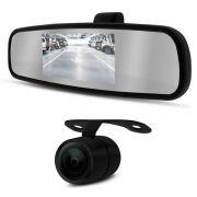 Kit Espelho Retrovisor DLux LCD 4,3 Pol com Câmera de Ré Borboleta