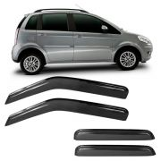 Calha de Chuva Acrílica Marçon Adesiva Fumê Fiat Idea 05/10 2011 em diante 4 Portas