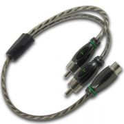 Cabo RCA Y 2M/1F Technoise EY12 - Alta Performance – Cabo Silicone c/ conector Metal banhado a níquel