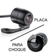 Camera de Ré Universal para Placa ou Para-Choque com Suporte