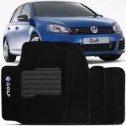 Tapete Automotivo Personalizado Carpete VW Golf 99 até 12 Preto Jogo 4 peças