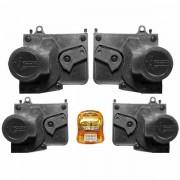 Trava Elétrica Específico p/ Fechadura Volkswagen Gol 2001 em diante (G2,G3,G4), Parati, Fox até 2009 - 4 portas - KIT