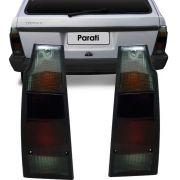 Lanterna Traseira Vw Parati Saveiro Quadrada 1987 a 1995 Fumê Lado Direito