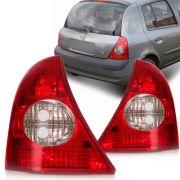 Lanterna Traseira Renault Clio 2003 a 2010 Bicolor Lado Esquerdo 32098E