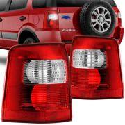 Lanterna Traseira Ford Ecosport 2003 a 2007 Bicolor Lado Esquerdo 31174E