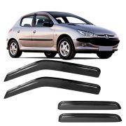 Calha de Chuva Acrílica Adesiva Peugeot 206 207 4 portas