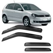Calha de Chuva Acrílica Adesiva Volkswagen Polo Hatch – 4 portas