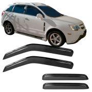 Calha de Chuva Acrílica Adesiva Chevrolet Captiva – 4 portas