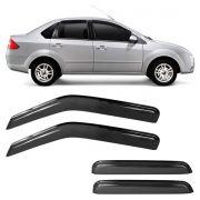 Calha de Chuva Acrílica Adesiva Ford New Fiesta Sedan – 4 portas