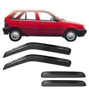 Calha de Chuva Acrílica Adesiva Fiat Tipo – 4 portas