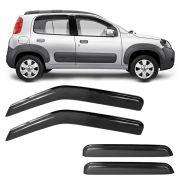 Calha de Chuva Acrilica Adesiva Fiat Uno Vivace 2010 a 2015 4 Portas