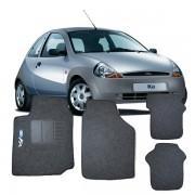 Tapete Automotivo Carpete Ford Ka 1996 a 2007 em diante 4 Peças Grafite