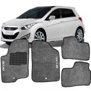 Tapete Automotivo Personalizado Carpete I30 Novo Preto Jogo 4 peças