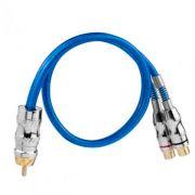 Cabo RCA Taramps Y 1M + 2F Azul