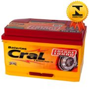 Bateria Automotiva Selada Cral Energy Sound 80A Polo Positivo Direita