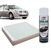 Filtro do Ar Condicionado Cabine Renault Megane 1995 a 1998 + Higienizador