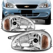 Farol Principal Gm Corsa Sedan Pick-up Wagon 2000 H4 Lado Esquerdo