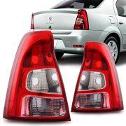 Lanterna Traseira Renault Logan 2011 a 2013 Bicolor Lado Direito 32145