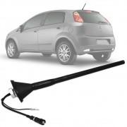 Antena Automotiva de Teto Amplificada Fiat Novo Palio Grand Siena Punto Liena Bravo 25 cm