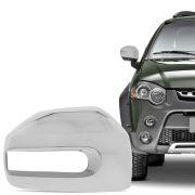 Aplique Cromado para Retrovisor Fiat Palio Weekend Strada Idea Adventure Locker 2008 em diante Lado Direito