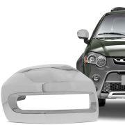 Aplique Cromado para Retrovisor Fiat Palio Weekend Strada Idea Adventure Locker 2008 em diante Lado Esquerdo