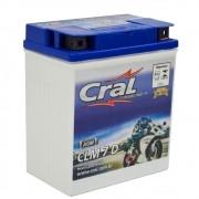 Bateria Para Moto Selada Cral 7A 12v Polo Positivo Direito