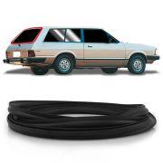 Borracha do Vidro Traseiro Vigia Ford Belina 2 com Friso em Alumínio