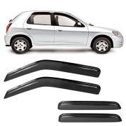 Calha de Chuva Acrilica Adesiva Chevrolet Celta Prisma 4 Portas