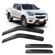 Calha de Chuva Acrílica Adesiva Chevrolet S10 2012 ? 4 portas