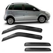 Calha de Chuva Acrílica Adesiva Fiat Idea 2005 a 2011 4 Portas