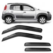 Calha de Chuva Acrilica Adesiva Fiat Uno Vivace  2010 a 2019 4 Portas