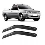 Calha de Chuva Acrilica Adesiva Ford Fiesta Courrier 2 Portas