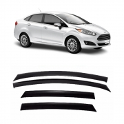 Calha de Chuva Acrílica Adesiva Ford New Fiesta Sedan 4 portas