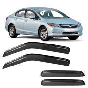 Calha de Chuva Acrílica Adesiva Honda New Civic 2013 ? 4 portas