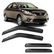 Calha de Chuva Acrílica Adesiva Nissan Versa 4 portas