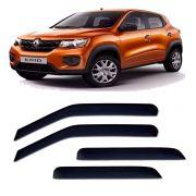 Calha de Chuva Acrilica Adesiva Renault KWID 2017 4 Portas